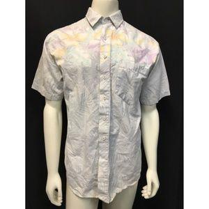Maui Trading California Hawaiian Floral Gray Shirt